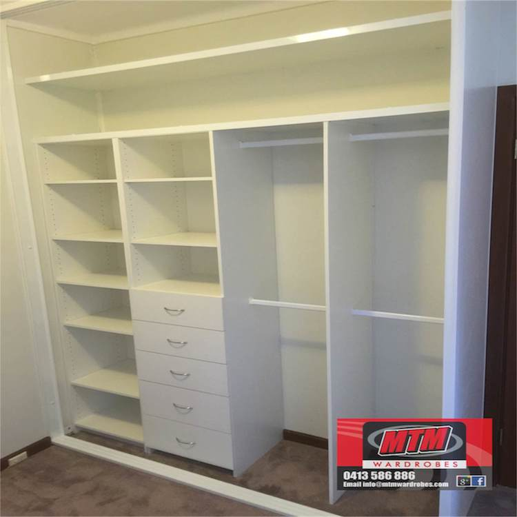 ... ceiling you can max your storage solutions by adding a second shelf
