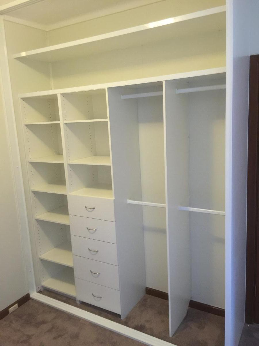 These Wardrobes Are Ready For Use And The Doors Will Be Added At A Later  Stage As Their Budget Allows.