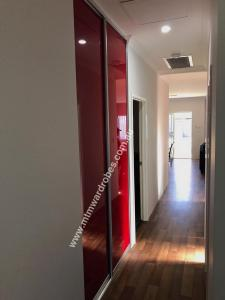 Red Glass Sliding doors