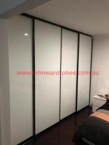 Low Iron white Glass Black Frame